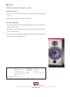 Bowers & Wilkins DM110i Specifications 1 pages