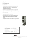 Bowers & Wilkins Active1 Specification Sheet 1 pages