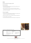 Bowers & Wilkins 2001 Specification Sheet 1 pages