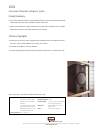 Bowers & Wilkins 2002 Specification Sheet 1 pages