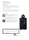 Bowers & Wilkins Matrix 801 Series 2 Specification 1 pages