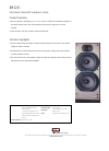 Bowers & Wilkins DM220i Specification Sheet 1 pages