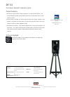 Bowers & Wilkins DM302 Specification Sheet 1 pages