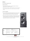 Bowers & Wilkins DM320 Specification Sheet 2 pages