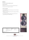 Bowers & Wilkins DM330i Specification Sheet 1 pages
