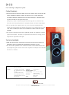 Bowers & Wilkins DM620i Specification Sheet 1 pages