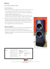 Bowers & Wilkins DM630i Specification 1 pages