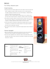 Bowers & Wilkins DM640i Specification Sheet 1 pages