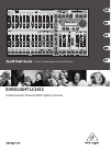 Behringer EUROLIGHT LC2412 Quick Start Manual 17 pages