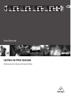 Behringer ULTRA-DI PRO DI4000 Operation & User's Manual 9 pages