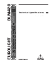 Behringer Eurolight BLM420 Technical Specifications 4 pages