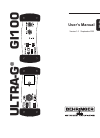 Behringer Ultra-G GI100 Operation & User's Manual 12 pages