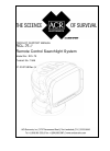 ACR Electronics RCL-75 Product Support Manual 20 pages