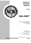 ACR Electronics RCL-50 Product Support Manual 19 pages
