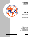 ACR Electronics RCL-75 Product Support Manual 15 pages