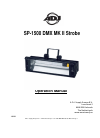 A.D.J. SP-1500 Operation Manual 8 pages
