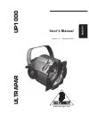 Behringer UP1000 Ultrapar Operation & User's Manual 7 pages