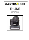 Electra Light E-Line Operation & User's Manual 7 pages