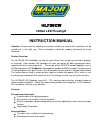 Major tech HLF30CW Instruction Manual 3 pages