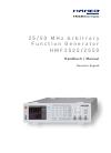 Hameg HMF2525 Manual 52 pages