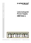 Hameg HM7042-3 Manual