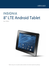 Insignia NS-15T8LTE Operation & User's Manual 72 pages