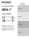 Integra RDA-7 Instruction Manual 16 pages