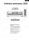 Integra DPC-8.5 Service Manual 152 pages