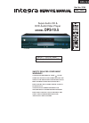Integra DPS-10.5 Service Manual 134 pages
