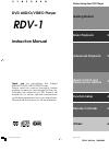 Integra RDV-1 Instruction Manual 64 pages