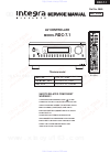 Integra RDC-7.1 Service Manual 156 pages