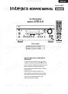 Integra DTR-5.9 Service manual