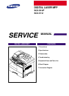 Samsung SCX-5312F - B/W Laser - All-in-One Service manual