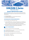 Samsung SVMi-4E System Administrator Manual 2 pages