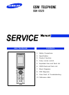 Samsung SGH-X520 Service Manual 58 pages