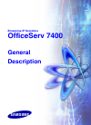 Samsung OfficeServ 7400 General Description Manual 112 pages