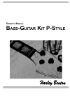 Harley Benton P-Style Owner's Manual 12 pages