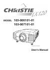 Christie LX120 103-006101-01