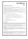 AktiMate Mini Setup Instructions 4 pages