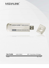 Medialink MWN-USB54G Operation & User's Manual 30 pages