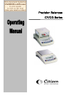 Citizen CY series Operating Manual 41 pages