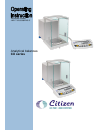 Citizen CX 165 Operating Instructions Manual 80 pages