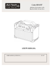 DJ-Tech Cube MINI BT Operation & User's Manual 8 pages