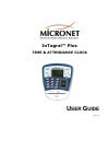 MicroNet InTagral Plus Operation & User's Manual 70 pages