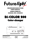 Future light DJ-COLOR 200 Operation & User's Manual 14 pages