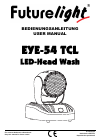 Future light EYE-54 TCL Operation & User's Manual 28 pages