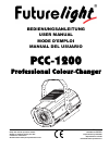 Future light PCC-1200 Operation & User's Manual 21 pages
