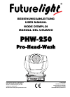 Future light PHW-250 Operation & User's Manual 23 pages