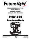 Future light PHW-700 Operation & User's Manual 25 pages