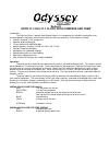 Odyssey ODYR-17-1 Manual 5 pages